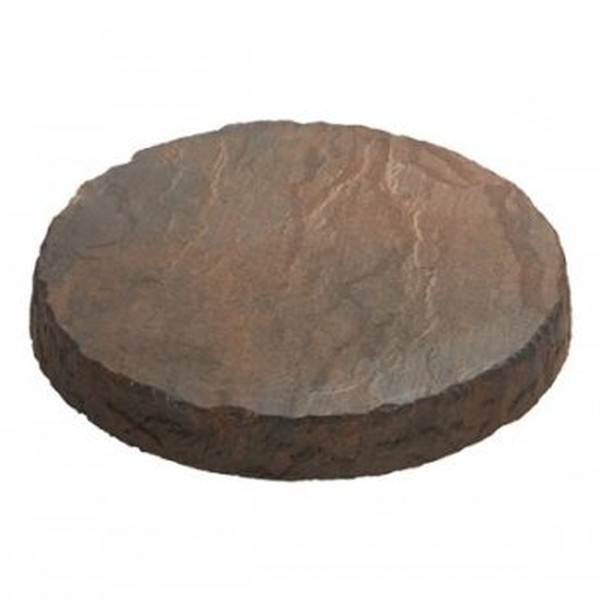 4 x Circular Stepping Stones Acorn Brown