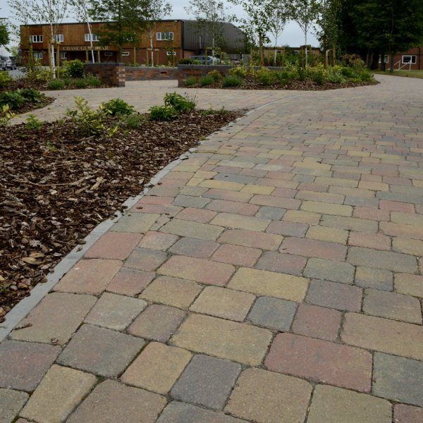 Alpha Large Block Paving in Autumn Gold 80mm