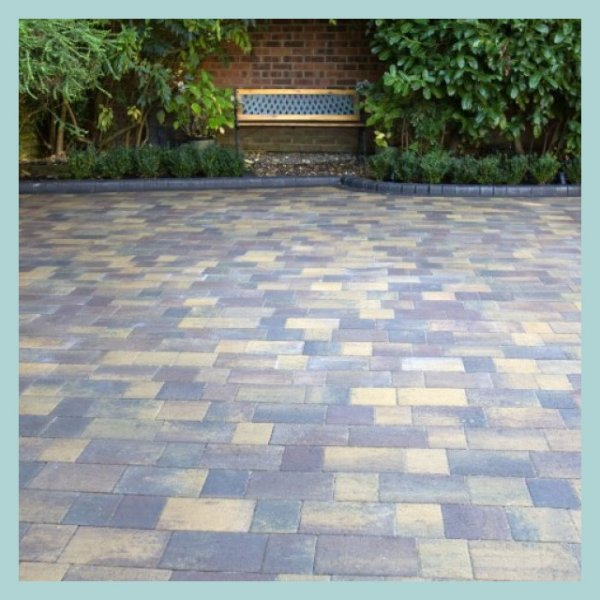 Smooth Three Size 60mm Block Paving Rustic Bronze