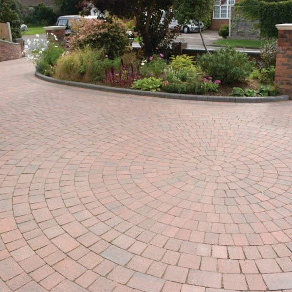 Alpha Circle Pack Block Paving in Brindle 50mm