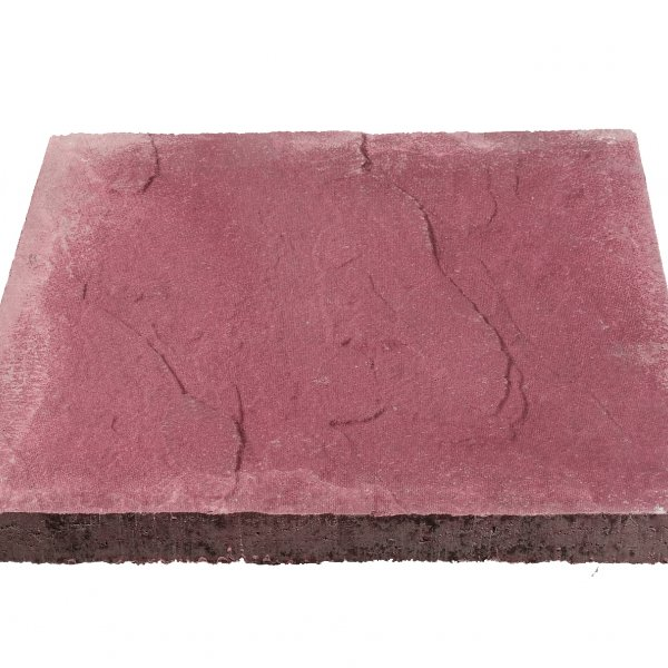 Broadway 30 No. 600x600x32mm Riven Paving Slabs Red
