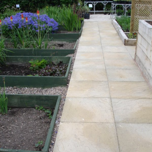30 No. 600x600x32mm Riven Paving Slabs Natural
