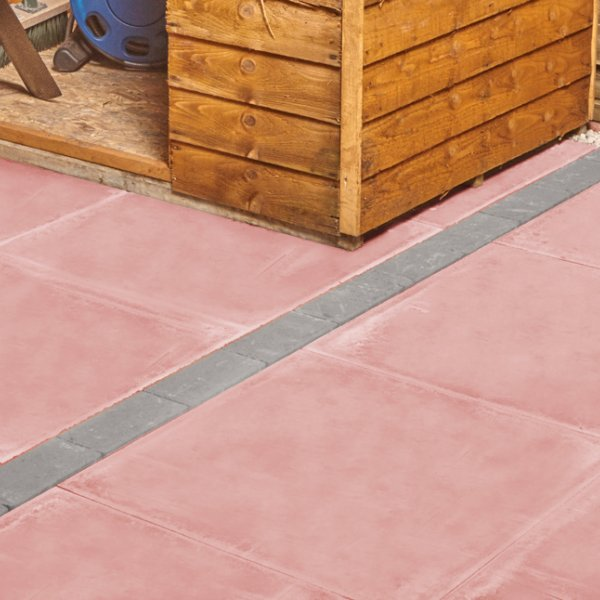 Broadway Smooth Paving Slabs in Red 600 x 600mm