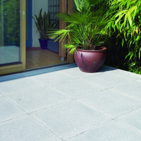 56 No. 450x450x32mm Textured Paving Slabs Charcoal
