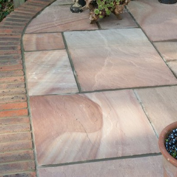 4 Size 7.18m² Riven Sandstone Patio Pack Sunrise