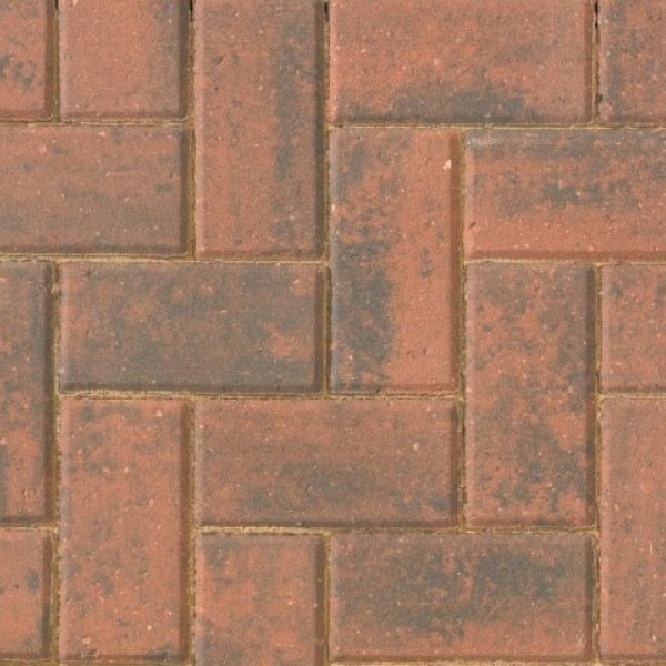 Smooth Single Size 266x133x50mm Block Paving - Brindle