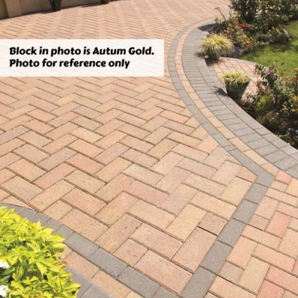Delta Block Paving in Brindle 50mm