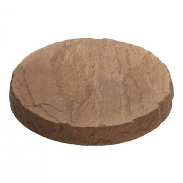 4 x Circular Stepping Stones Honey Brown