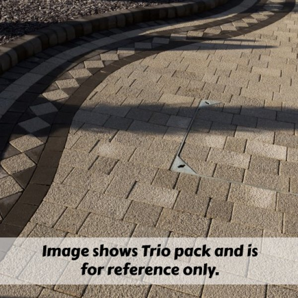 Lugano Textured Block Paving in Misty Grey 80mm