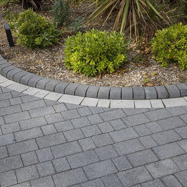 Textured Three Size 60mm Block Paving Graphite Grey