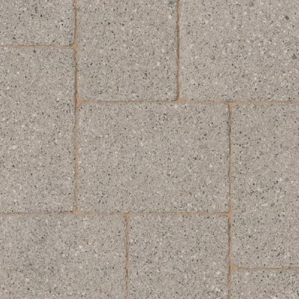 Textured Single Size 105x140x80mm Block Paving Misty Grey