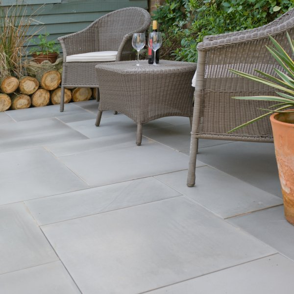 4 Size 15.37m² Polished Sandstone Patio Pack Mountain Mist
