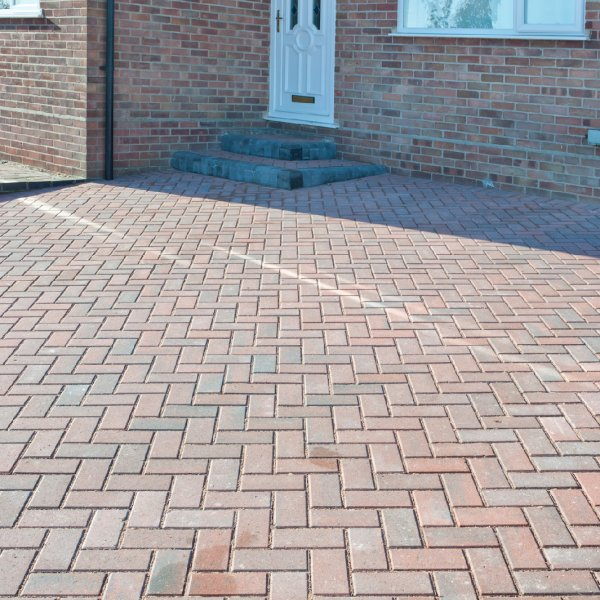 Omega Block Paving in Brindle 50mm