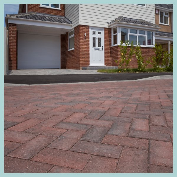 Smooth Single Size 266x133x50mm Block Paving Brindle