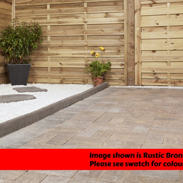 Omega Tumbled 200x100x80mm Block Paving - Brindle