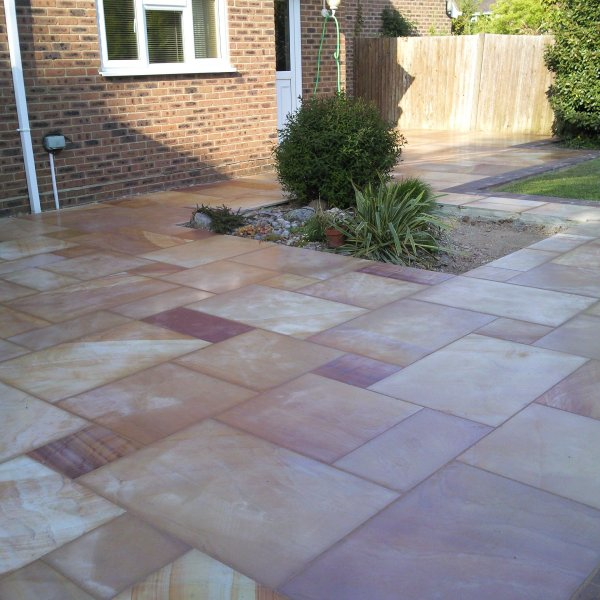 4 Size 15.37m² Polished Sandstone Patio Pack Modak