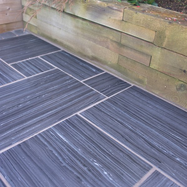 6.44m² Quartzite 600x150x20mm Planks Midnight Storm