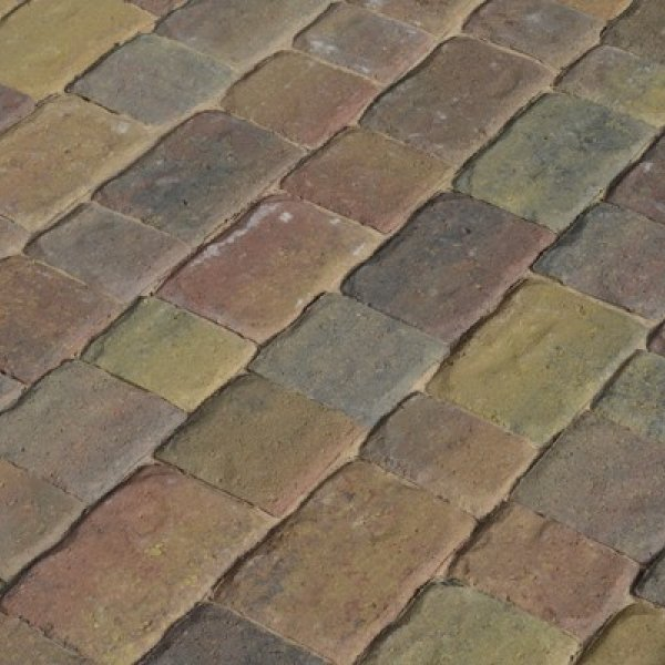 Riven Three Size 60mm Block Paving Rustic Bronze