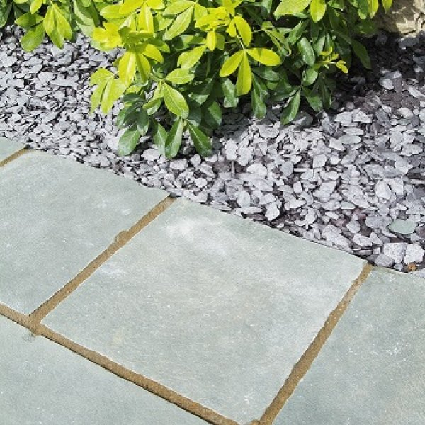 Rippled Limestone Patio Pack - Ocean Spray