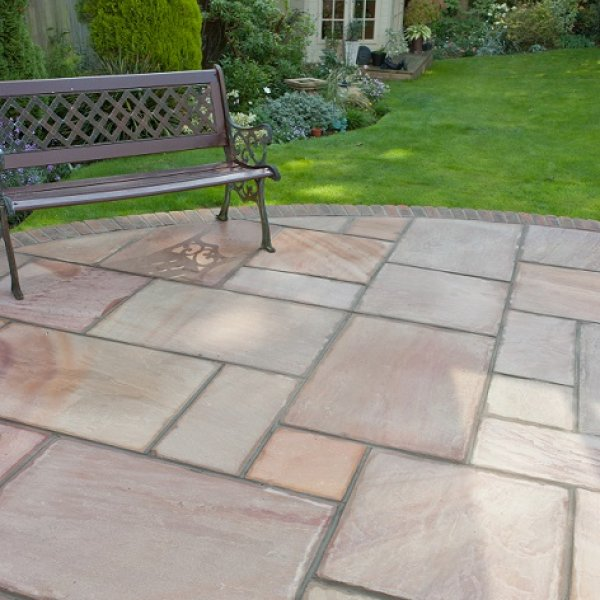 Riven Sandstone Single Size 600x600x22mm - Sunrise