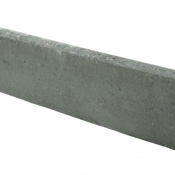 48 No. 600x150x50mm Round Top Edgings Charcoal