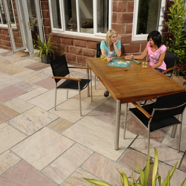 4 Size 7.18m² Riven Sandstone Patio Pack Raveena