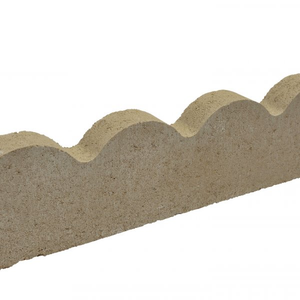 48 No. 600x150x50mm Scallop Edgings Natural