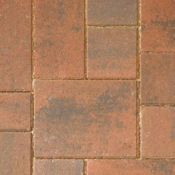 82.55m² Single Size 80mm Smooth Block Paving Brindle