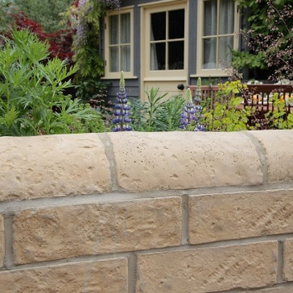 54 x Garden Walling 372x102x102mm Old Gold