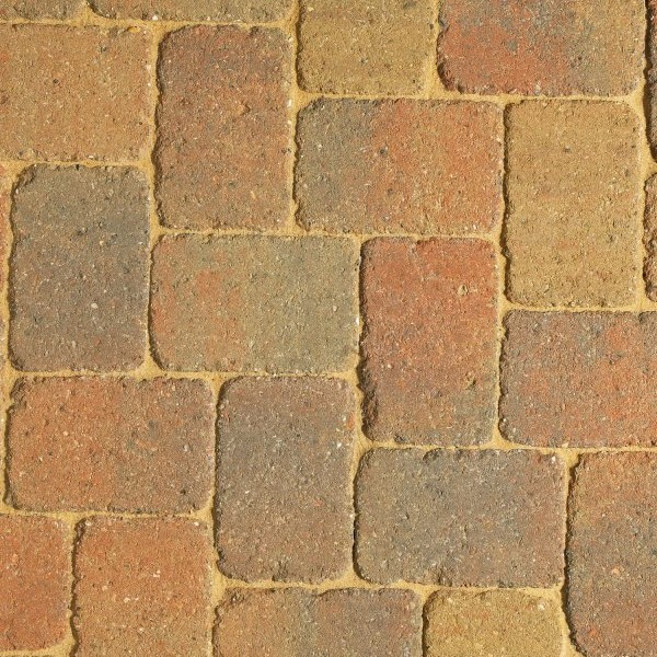 64m² Three Size Rumbled Driveway Paving Autumn Gold