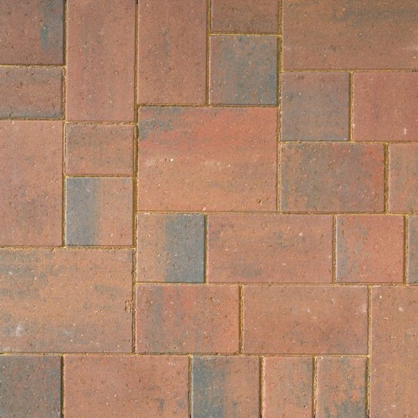 60m² Two Size Smooth 60mm Block Paving Autumn Mix