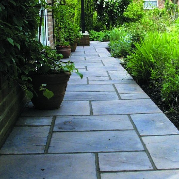 5 Size 7.61m² Riven Paving Slab Patio Pack Weathered Buff