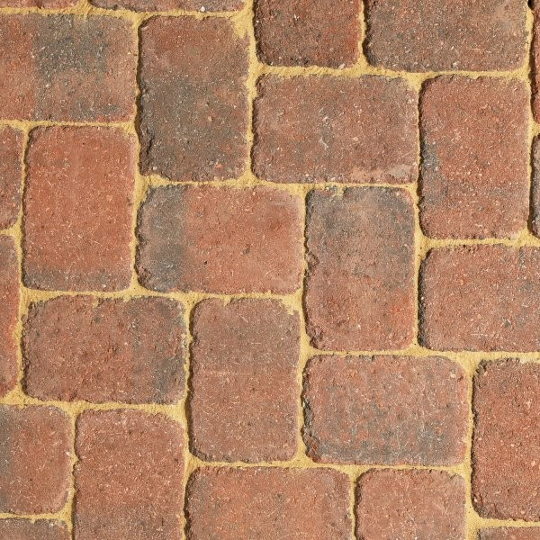 86m² Three Size Rumbled Driveway Paving Brindle