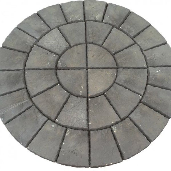 3.46m Garden Paving Half Circle Feature Kit - Slate Grey