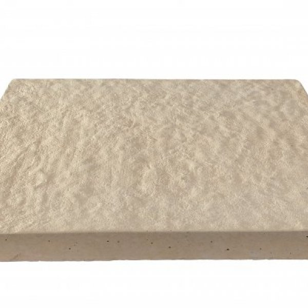 64 No. 450x450x32mm Gently Rippled Paving Slabs Buff