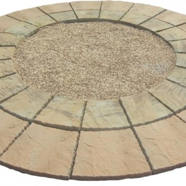 3.46 Garden Paving Half Circle Feature Kit