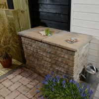 Three Size Garden Walling Honey Brown