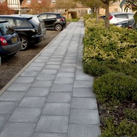 30 No. 400x400x65mm Textured Paving Slabs Silver Grey