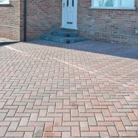Omega Block Paving in Brindle 60mm