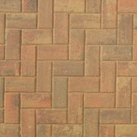 Smooth Single Size 200x100x60mm Block Paving Autumn Gold