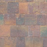 Riven Three Size 60mm Block Paving - Rustic Bronze