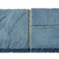 Canterbury 3 Size 5.63m² Riven Paving Slab Patio Pack - Slate Grey
