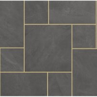 Eden Slate Porcelain Patio Pack 21.54m² - Midnight Shadow